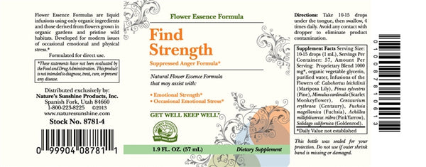 Find Strength (Suppressed Anger Formula) (2 Fl Oz)