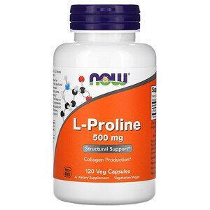 Now Foods, L-Proline, 500 mg, 120 Veg Capsules