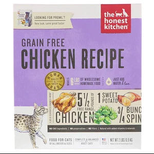 The Honest Kitchen, Grain-Free Dehydrated Cat Food, Chicken Recipe, 2 lbs (0.9 kg)