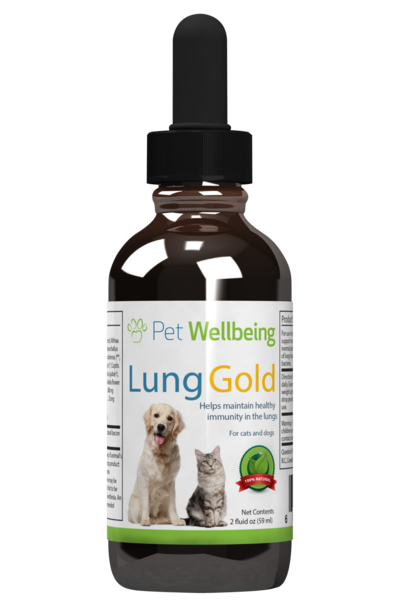 Lung Gold for dog lung infections and easy breathing