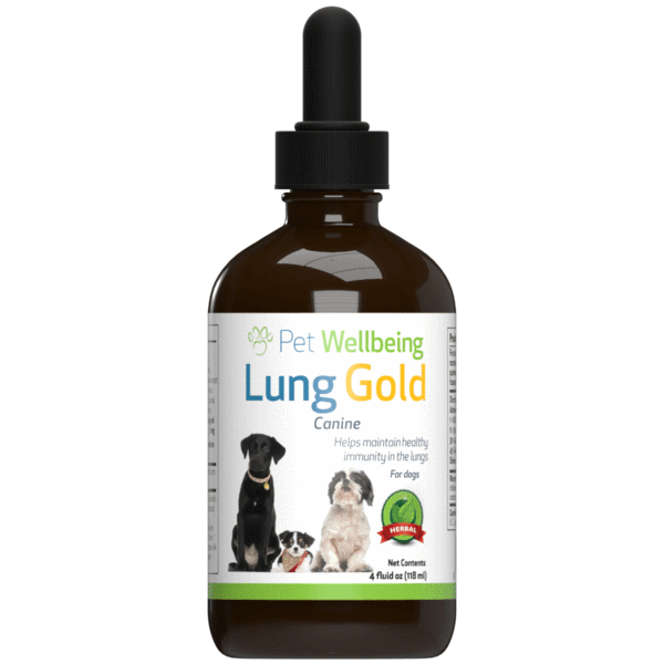 Lung Gold for dog lung infections and easy breathing (1 Bottle = 2oz, 4oz)