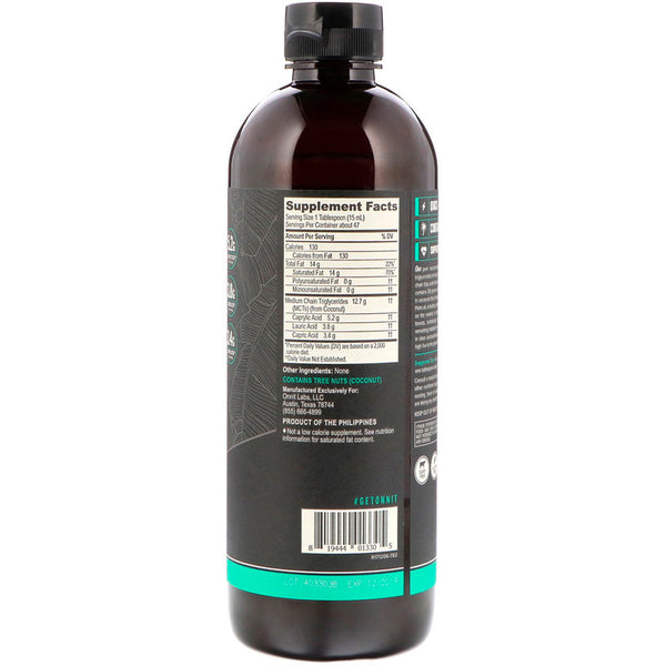 Onnit, MCT Oil, Unflavored, 24 fl oz (709 ml)(Dairy Free, Gluten Free, Vegan)
