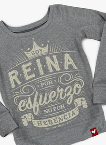 Reina (Ladies Wide Neck Sweatshirt)