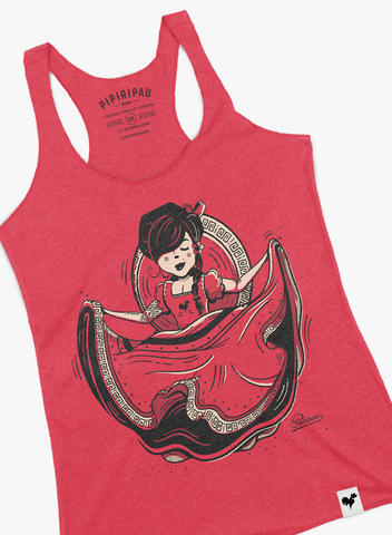 Golondrina (Ladies Red Tank-Top)