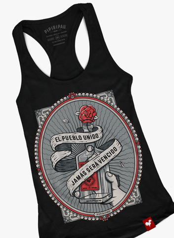 Pueblo Unido (Ladies Black Tank-Top)