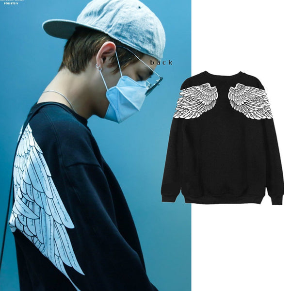BTS X Taehyung white wings sweater - BT21 Store | BTS Online Shop