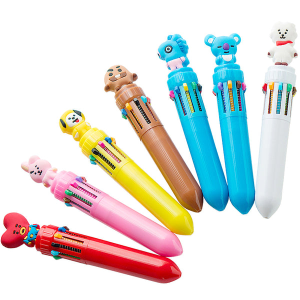 BT21 X MULTI-COLOR BALLPOINT PEN - BT21 Store | BTS Online Shop