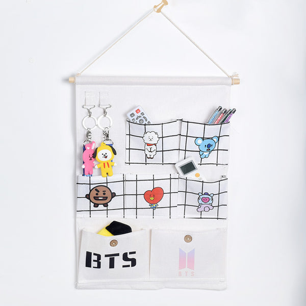 BT21 X 2 Pack Wall Storage Bag - BT21 Store | BTS Online Shop