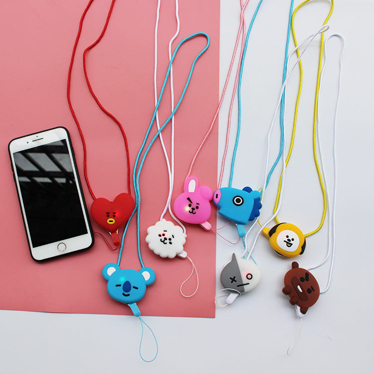 BT21 X Illuminated mobile phone lanyard - BT21 Store | BTS Online Shop