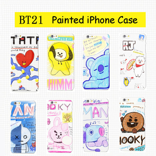 BT21 X Hand Painted iPhone Case - BT21 Store | BTS Online Shop