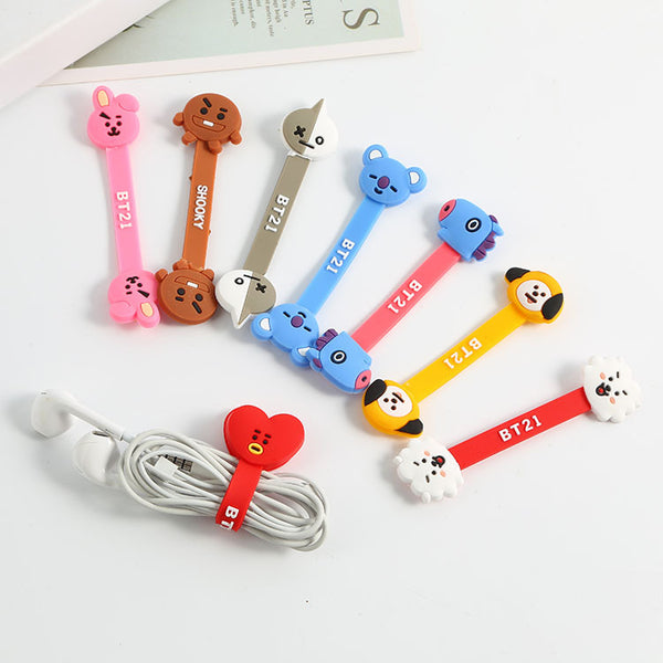 BT21 X Earphone Cable Organizer - BT21 Store | BTS Online Shop