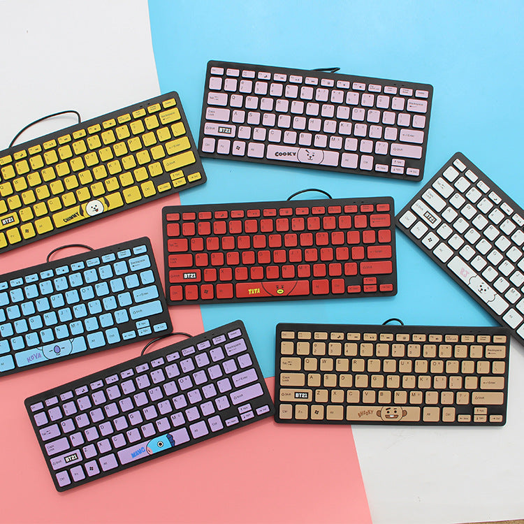 BT21 X Wired keyboard - BT21 Store | BTS Online Shop