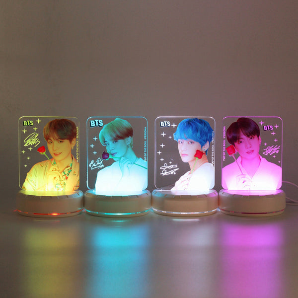 BTS X Colorful LED Acrylic Night Light - BT21 Store | BTS Online Shop