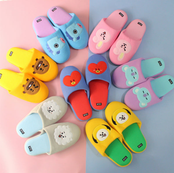 BT21 X Plush slippers - BT21 Store | BTS Shop