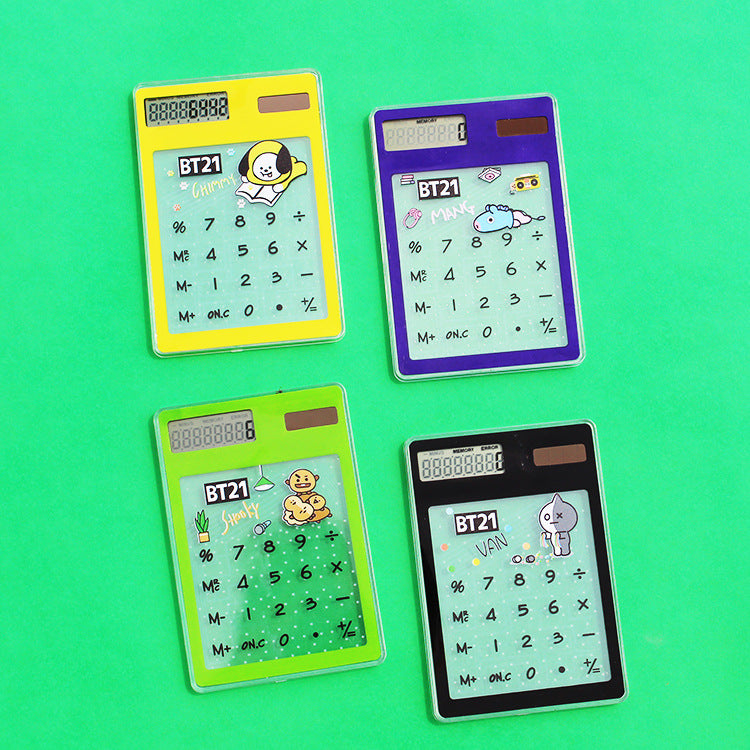 BT21 X Transparent solar Calculator - BT21 Store | BTS Online Shop