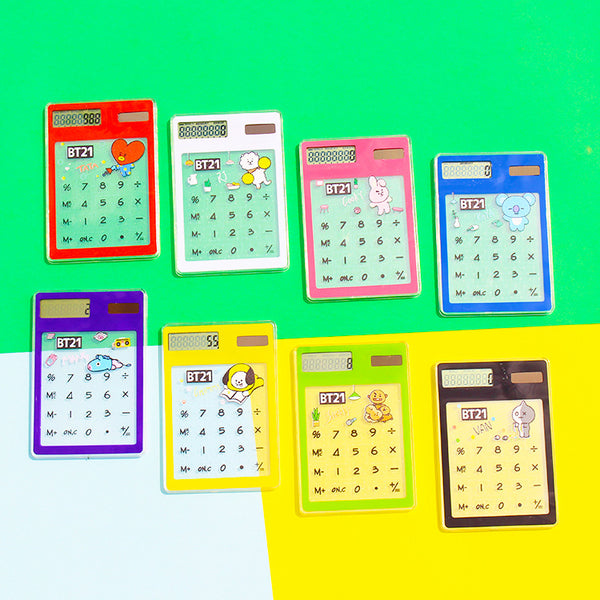 BT21 X Transparent solar Calculator - BT21 Store | BTS Shop