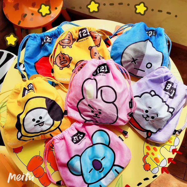 BT21 X Drawstring Bag