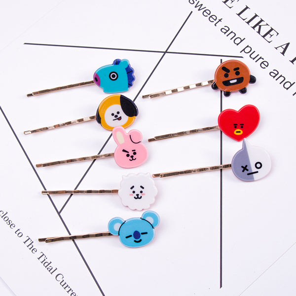 BT21 X Hair Pins - BT21 Store | BTS Online Shop