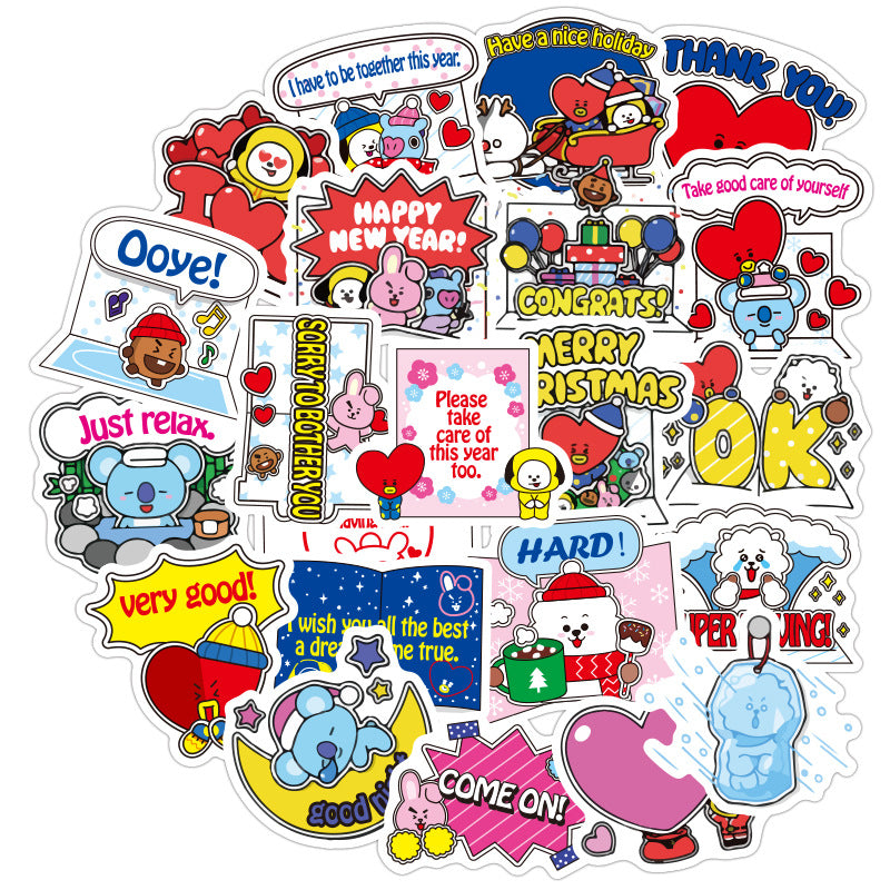 BT21 X Christmas Sticker - BT21 Store | BTS Online Shop
