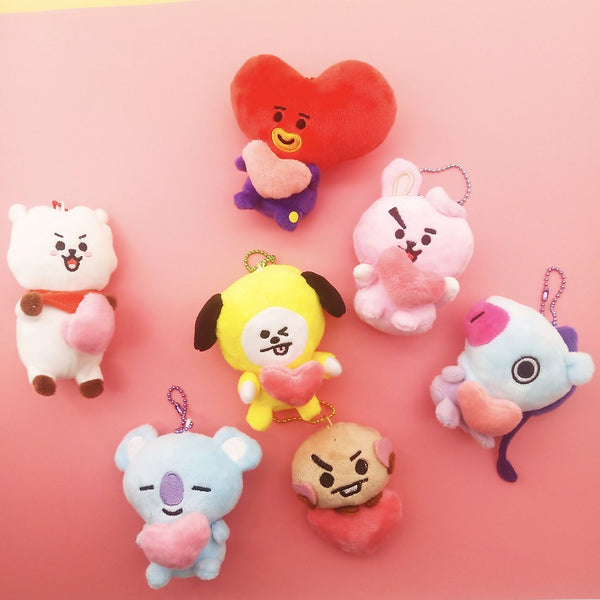 BT21 X Japan Limited  Heart Doll keychain - BT21 Store | BTS Shop