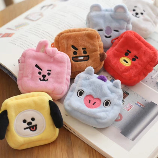 BT21 X Cute Plush Wallet