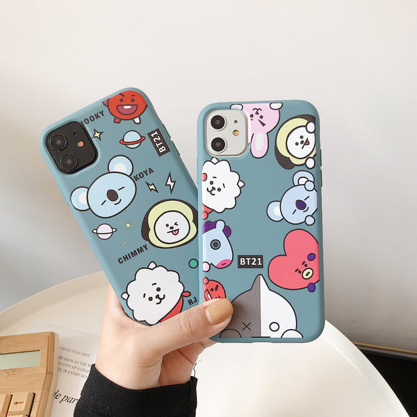 BT21 X Huawei iPhone Case + phone holder