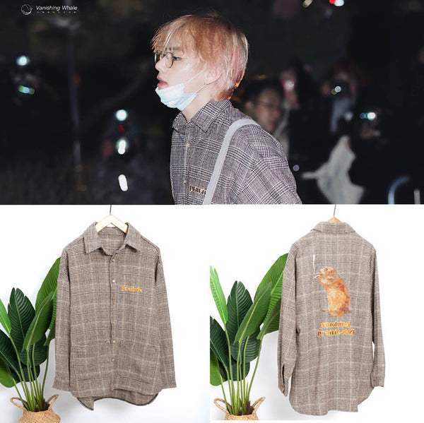 BTS X TAEHYUNG plaid shirt - BT21 Store | BTS Online Shop