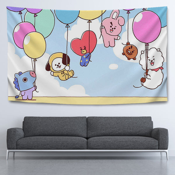 BT21 X CLOTH WALL TAPESTRY - BT21 Store | BTS Online Shop