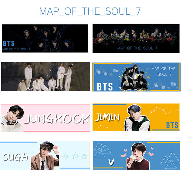 BTS X Map Of The Soul 7 Hand Holder Slogan Poster - BT21 Store | BTS Online Shop