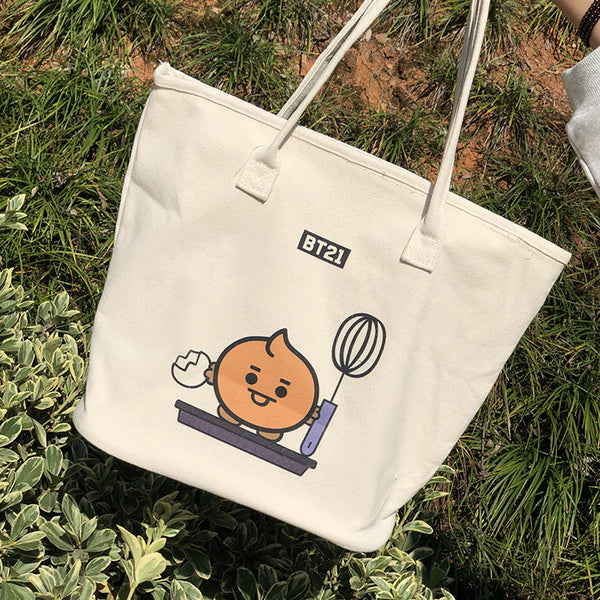 BT21 X CANVAS TOTE BAG - BT21 Store | BTS Online Shop