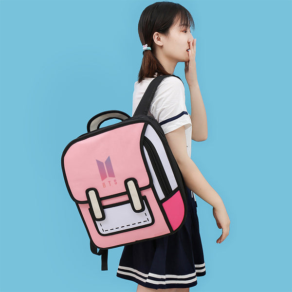 BT21 X 3D Drawing Backpack