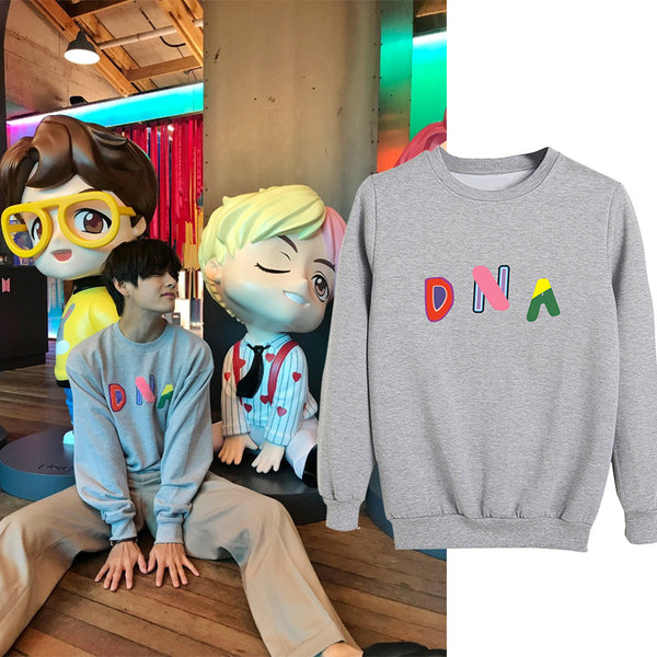 BTS X V DNA Sweatshirt - BT21 Store | BTS Online Shop