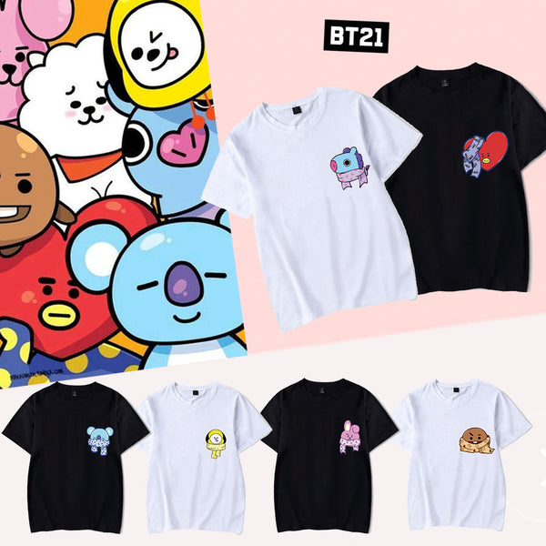 BT21 Cartoon Print T-Shirt - BT21 Store | BTS Shop