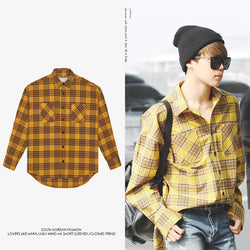 BTS Jimin check shirt - BT21 Store | BTS Online Shop