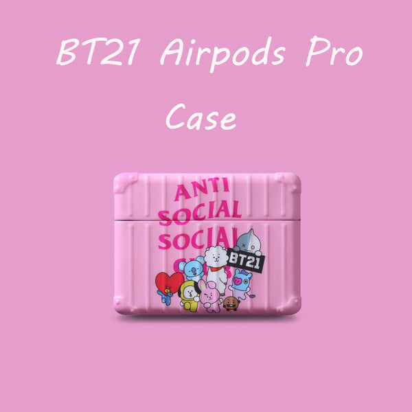 BT21 X ASSC PINK AIRPODS CASE - BT21 Store | BTS Shop