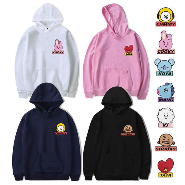 BT21 Cartoon Q Version Hoodie - BT21 Store | BTS Online Shop
