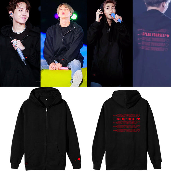 BTS Speak Yourself Zip Up Hoodie - BT21 Store | BTS Shop