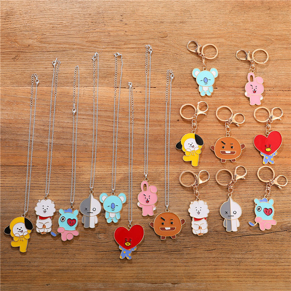 BT21 Cartoon Keychain Necklace - BT21 Store | BTS Online Shop