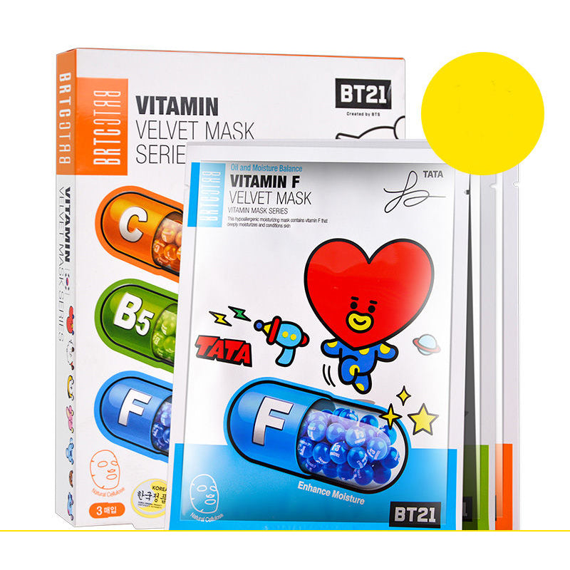 BT21 X BRTC Facial Mask Sheet - BT21 Store | BTS Online Shop