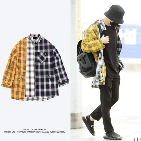 BTS Suga Oversized 3 Patterns Shirt - BT21 Store | BTS Online Shop