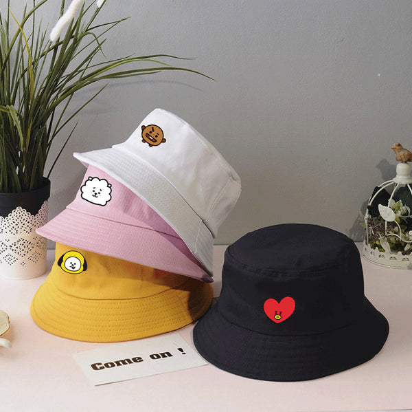 BT21 Cartoon Fisherman Bucket Sun Hat - BT21 Store | BTS Online Shop