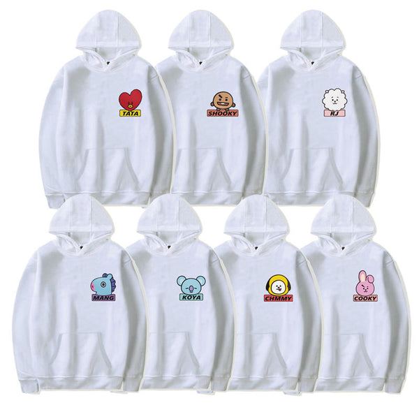 BT21 Cartoon Q Version Hoodie - BT21 Store | BTS Shop