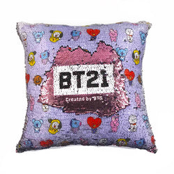 BT21 Sequin Pillow - BT21 Store | BTS Online Shop