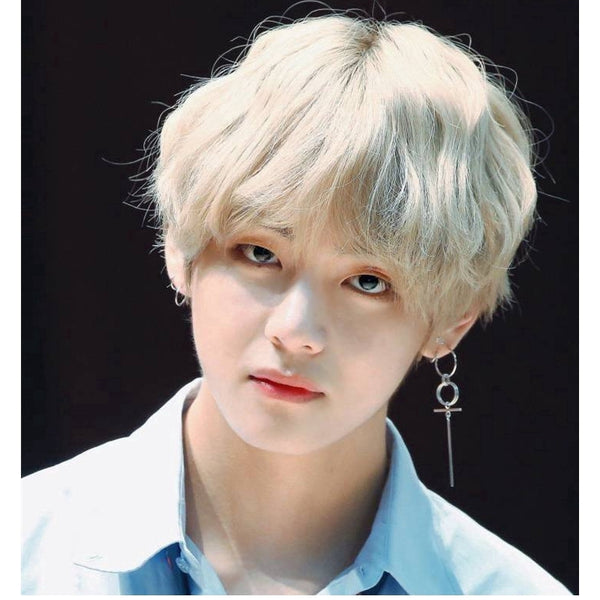 BTS V Fashion Circle Cross Earring - BT21 Store | BTS Shop