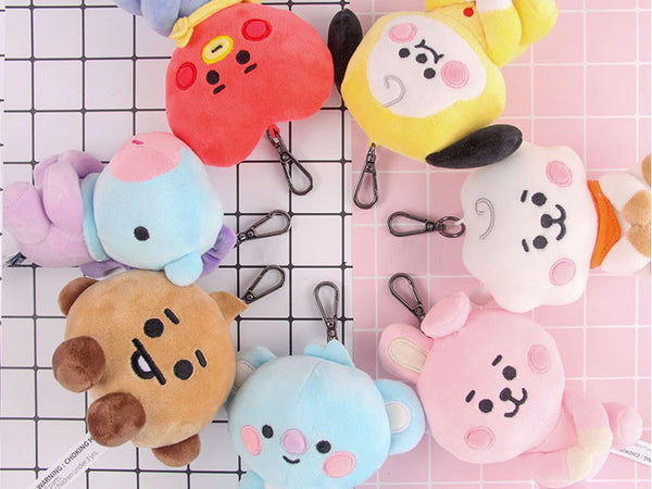 BT21 X baby sitting doll keychain - BT21 Store | BTS Online Shop