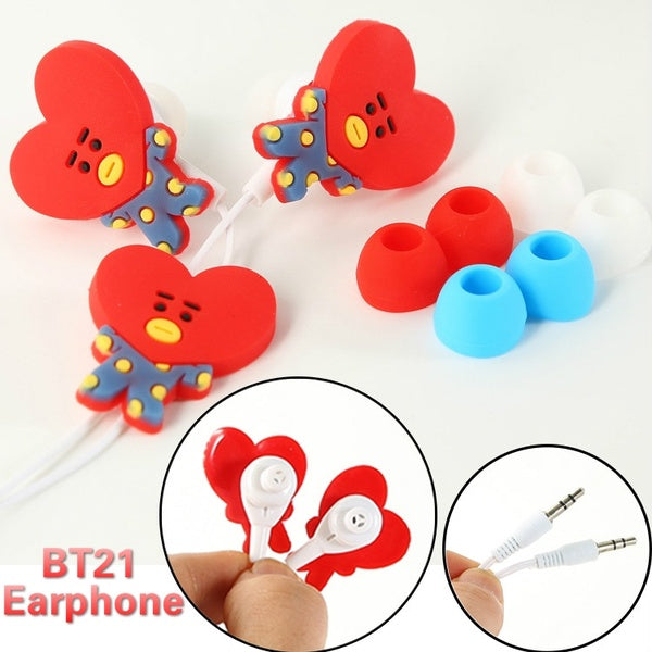 BT21 X Cartoon in-ear headphones