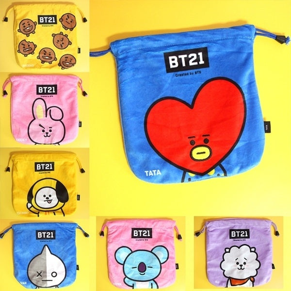 BT21 X Drawstring Bag - BT21 Store | BTS Online Shop