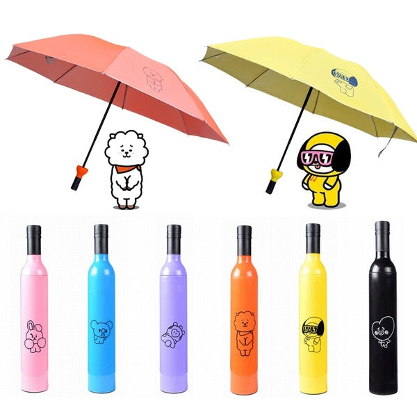 BTS BT21 Character Folding Umbrella - BT21 Store | BTS Online Shop