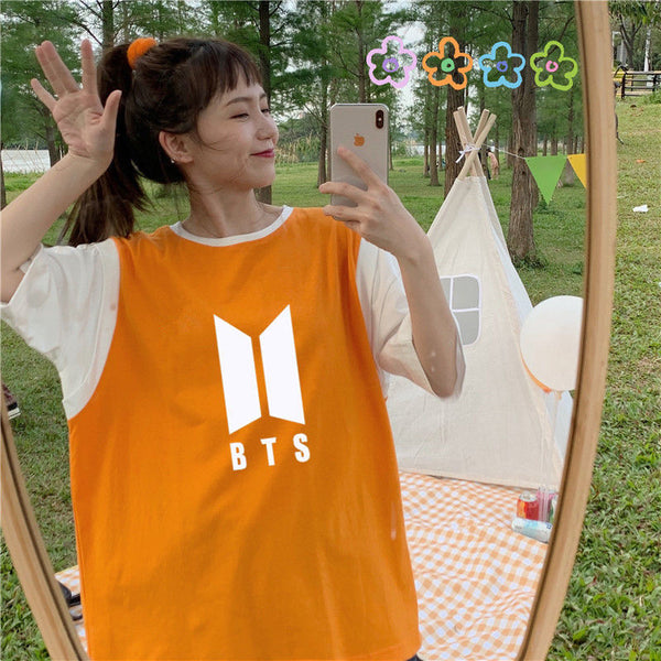 BTS Half Sleeve Big Logo T-shirt