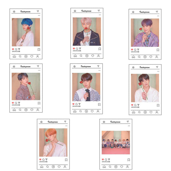 BTS X INSTAGRAM CARDS - BT21 Store | BTS Online Shop